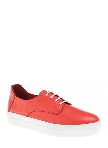 D by Divarese Deri Sneaker Kırmızı